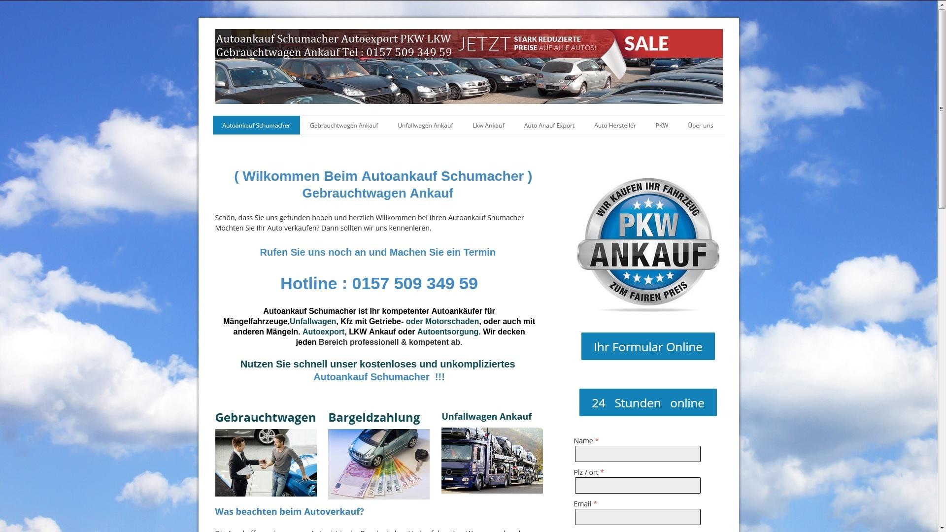 https://www.autoankauf-schumacher.de - Autoankauf Nordhausen