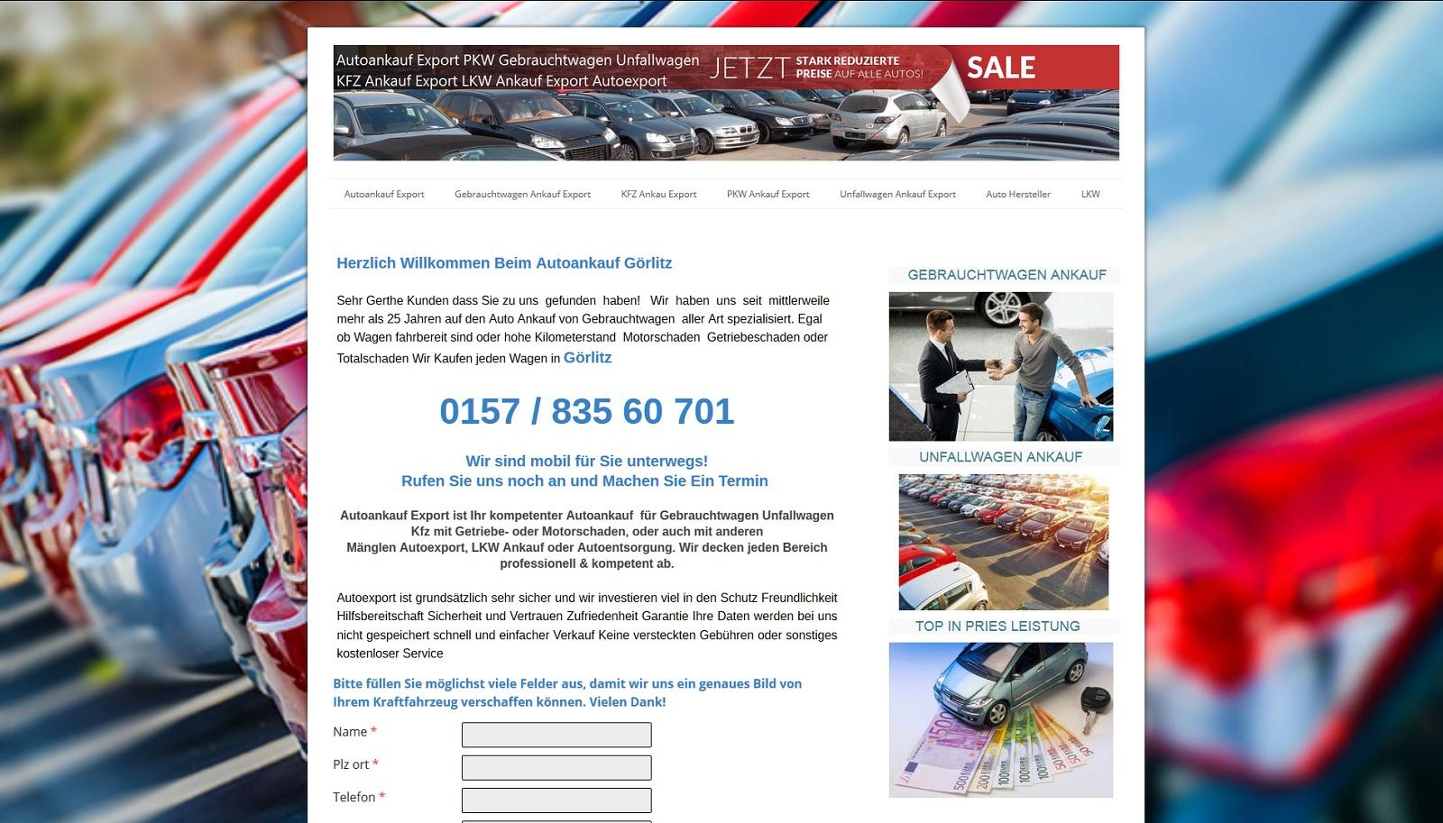 auto-ankauf-export.de - Autoankauf Görlitz