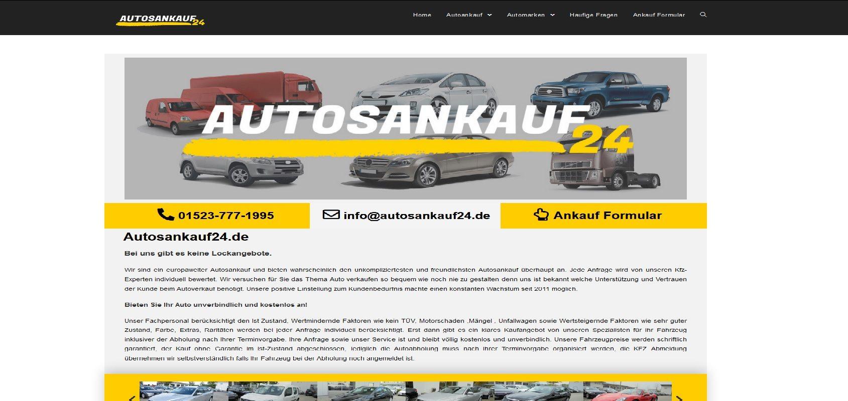 autosankauf24.de Autoankauf Würzburg