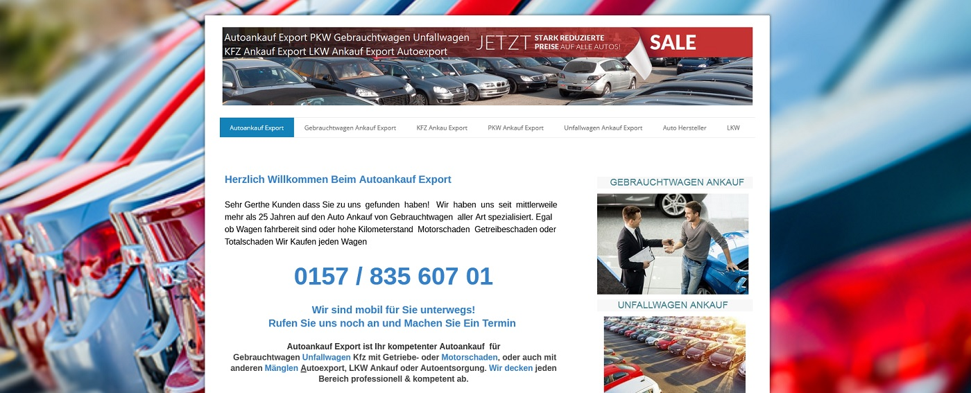 auto-ankauf-exports.de - Autoankauf Gera
